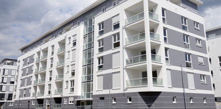Contemorary White Apartment Block